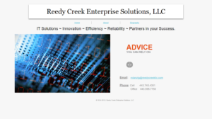 reedycreekllc.com screen shot from 2015
