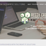 A screenshot of reedycreekllc.com in Jan 2016