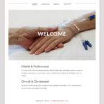 Screen capture of the homepage of Chesapeake Mobile Healthcare's website as of October 20th, 2016