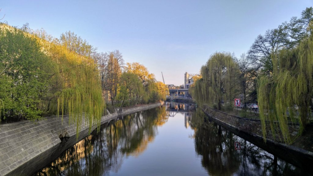 View from a bridge along the Landwehr Canal