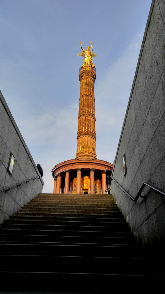 View ascending the pedestrian tunnel to the Siegessäule Victory Column
