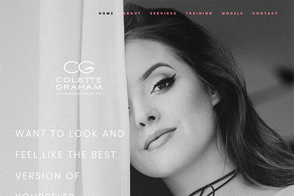 Website for Colette Graham Permanent Makeup