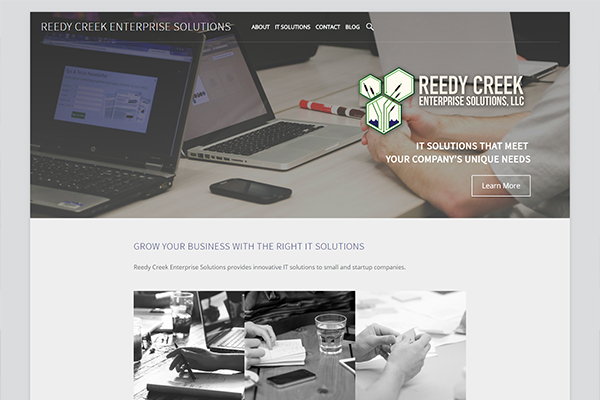 Website for Reedy Creek Enterprise Solutions